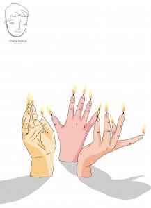 manos velas